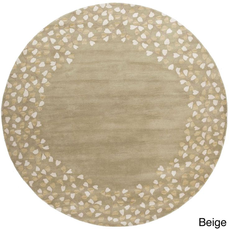 Hand-tufted Rome Floral Border Round Wool Area Rug (8' Round) - 16468076 - Overstock.com Shopping - Great Deals on Round/Oval/Square
