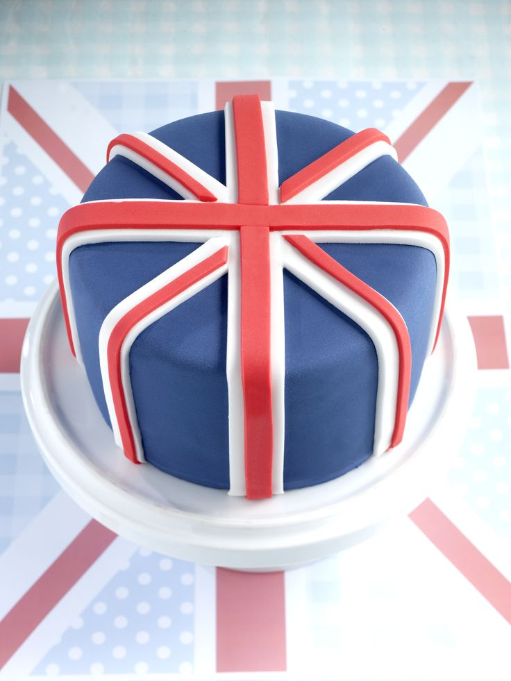 Union Jack cake - Queen Elizabeth II's 90th birthday celebrations