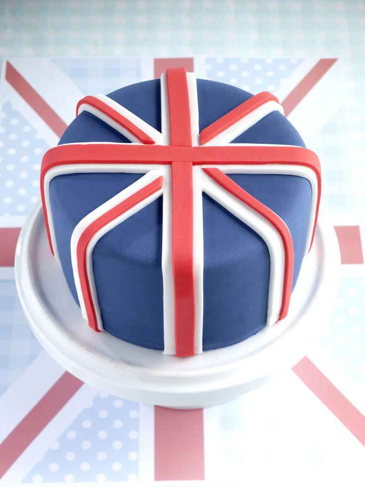 Union Jack cake - Queen Elizabeth II's 90th birthday celebrations