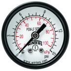 PEM-LF Series 1.5 in. Lead-Free Brass Pressure Gauge with 1/8 in. NPT CBM and 0-15 psi/kPa
