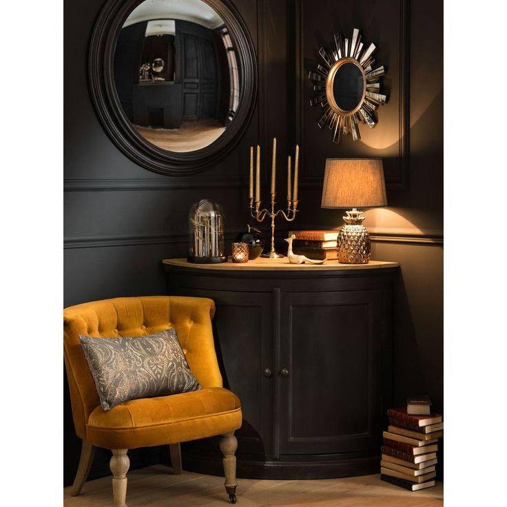 miroir soleil dor effet vieilli d48 maisons du monde. Black Bedroom Furniture Sets. Home Design Ideas