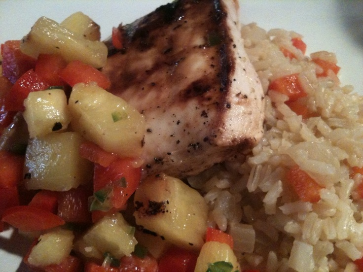 ... Caribbean Inspired Dinner - Pineapple Chicken with Sweet & Spicy Rice