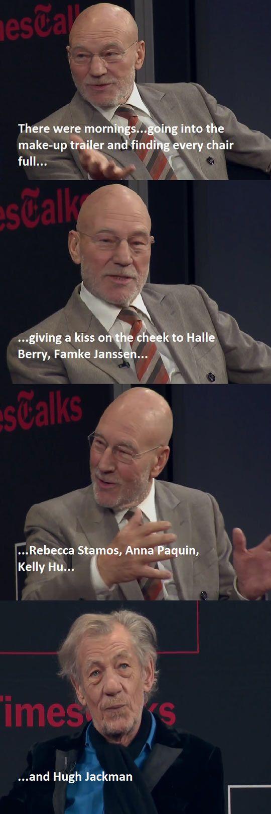 I love Ian McKellan.