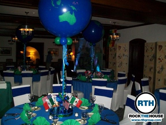 Around the world party mitzvah djs help host around for Around the world party decoration ideas