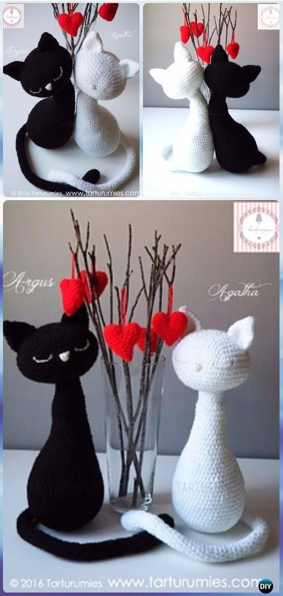 Crochet Amigurumi Valentine Cat Free Pattern - Crochet Amigurumi Cat Free Patterns