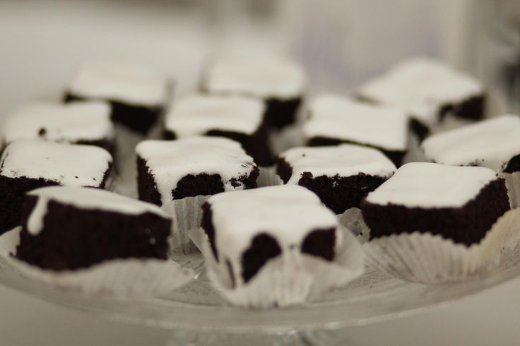 Brownies with royal icing