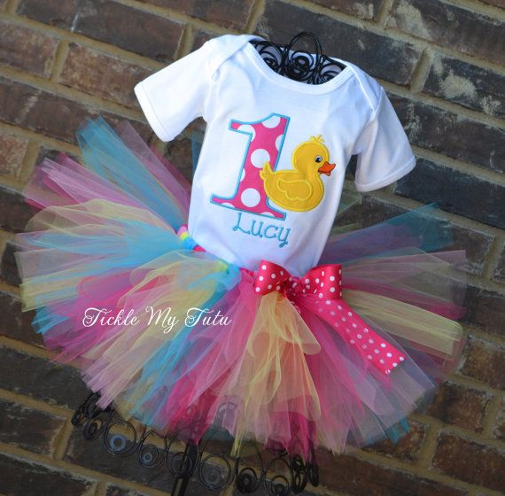 Hey, I found this really awesome Etsy listing at https://www.etsy.com/listing/188738693/rubber-ducky-themed-birthday-tutu-outfit