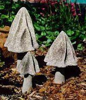Different types of concrete mushrooms