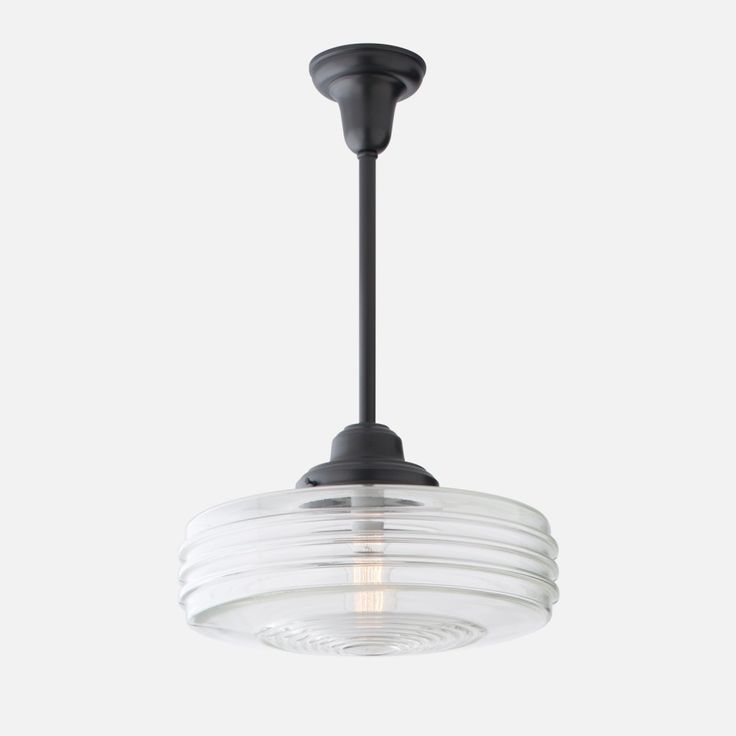 fluted deco shade clear