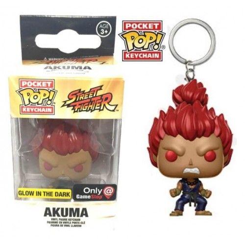 Funko Keychain Akuma GITD, Gamestop Exclusive, Chaveiro, Street Fighter, SF, Games, Funkomania