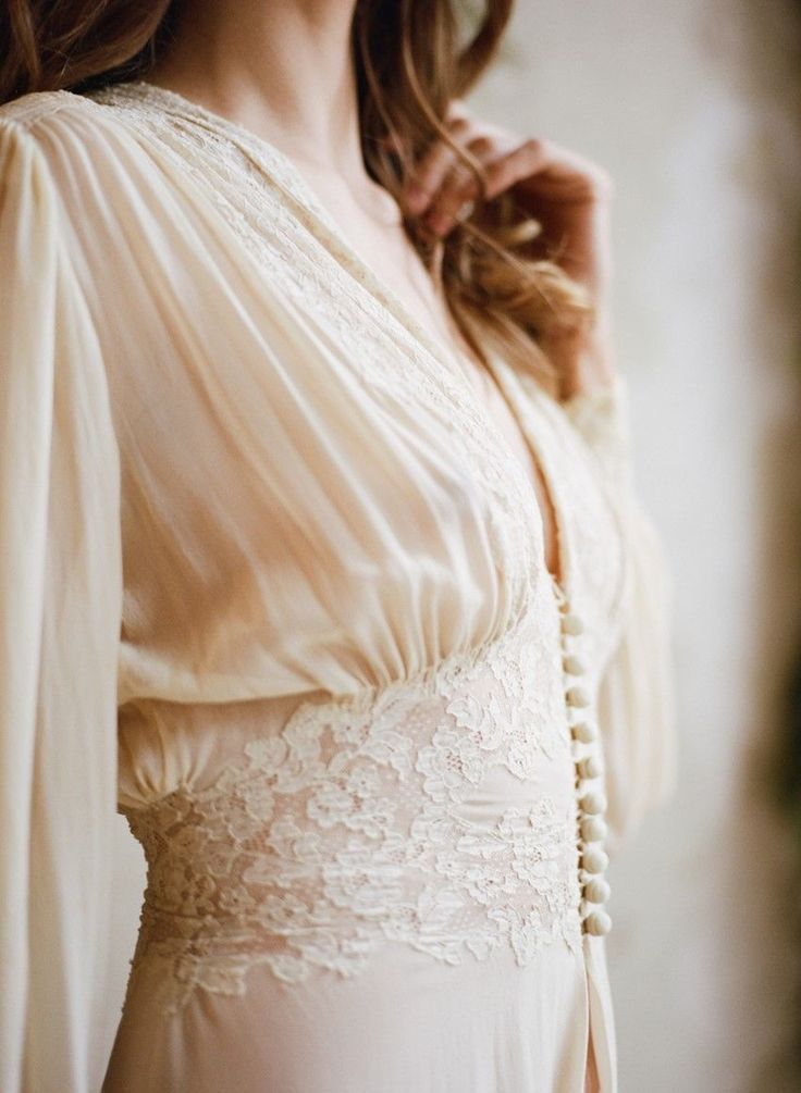 Romantic Vintage Bridal Robe // Photography ~ Archetype Photography