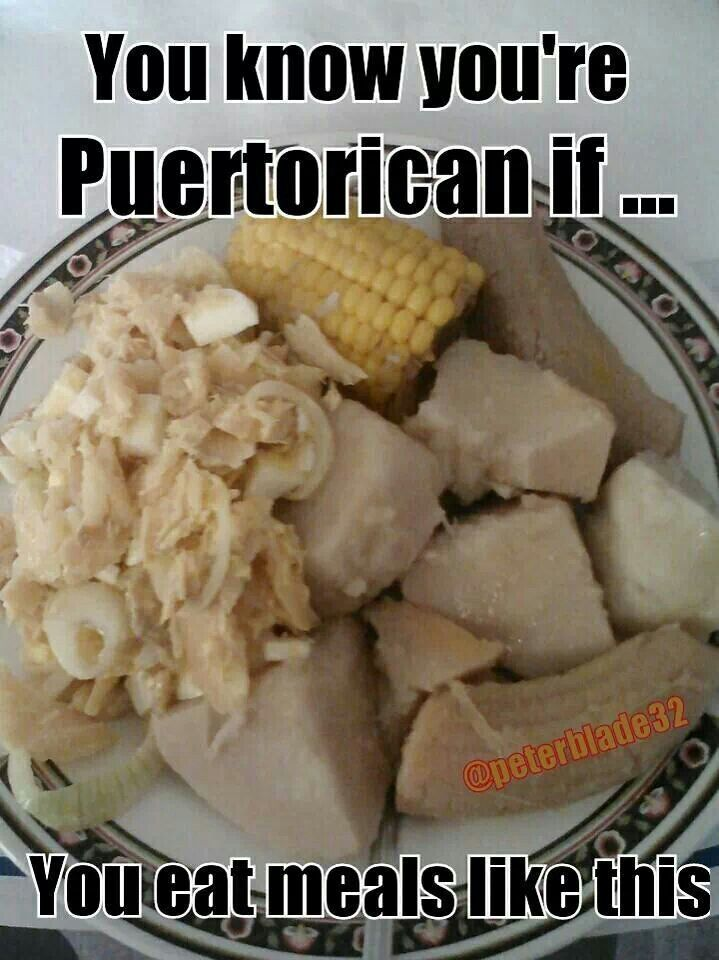 You know your Puerto Rican if you eat meals like this♡
