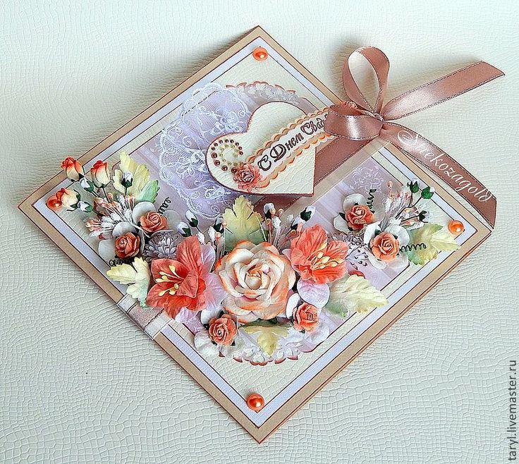 """Свадебная открытка """"Коралловая свадьба"""" - свадебная открытка,открытка на свадьбу"""