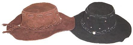 Suede Leather Floppy Pioneer Hat 25