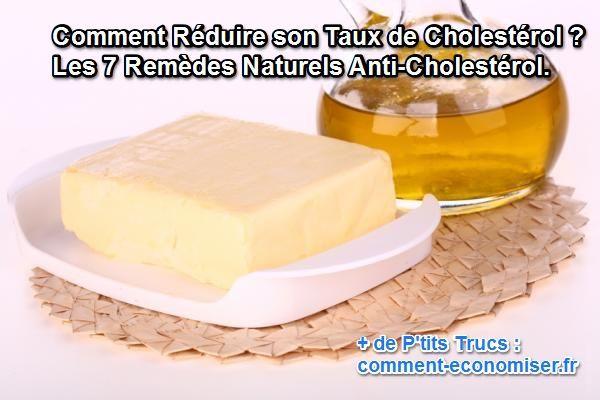 Comment réduire son taux de cholestérol ? Les 7 remèdes naturels anti-cholestérol.