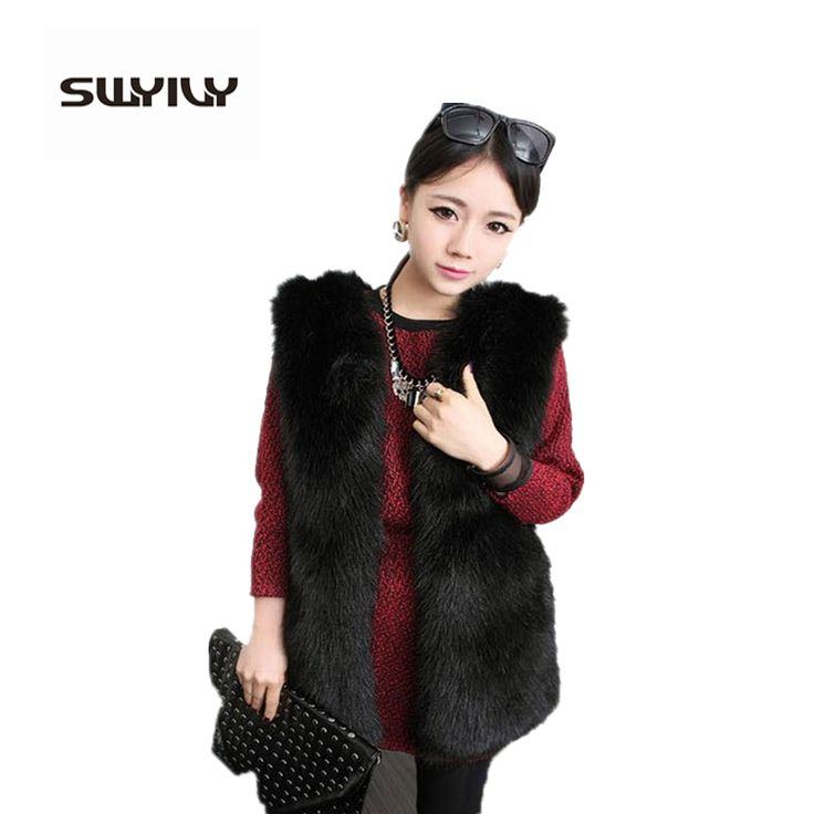 >> Click to Buy << 2017 Autumn Winter Faux Fur Vest Colete De Pele Falso Winter Jacket Casacos Femininos Womens Coat Plus Size Free Shipping WWC047 #Affiliate