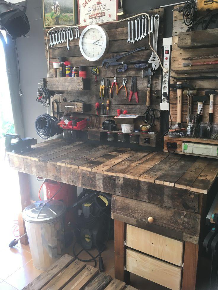 Epingle Par Laura Milligan Sur Alles Amenagement Garage Meubles En Bois De Palettes Rangement Atelier
