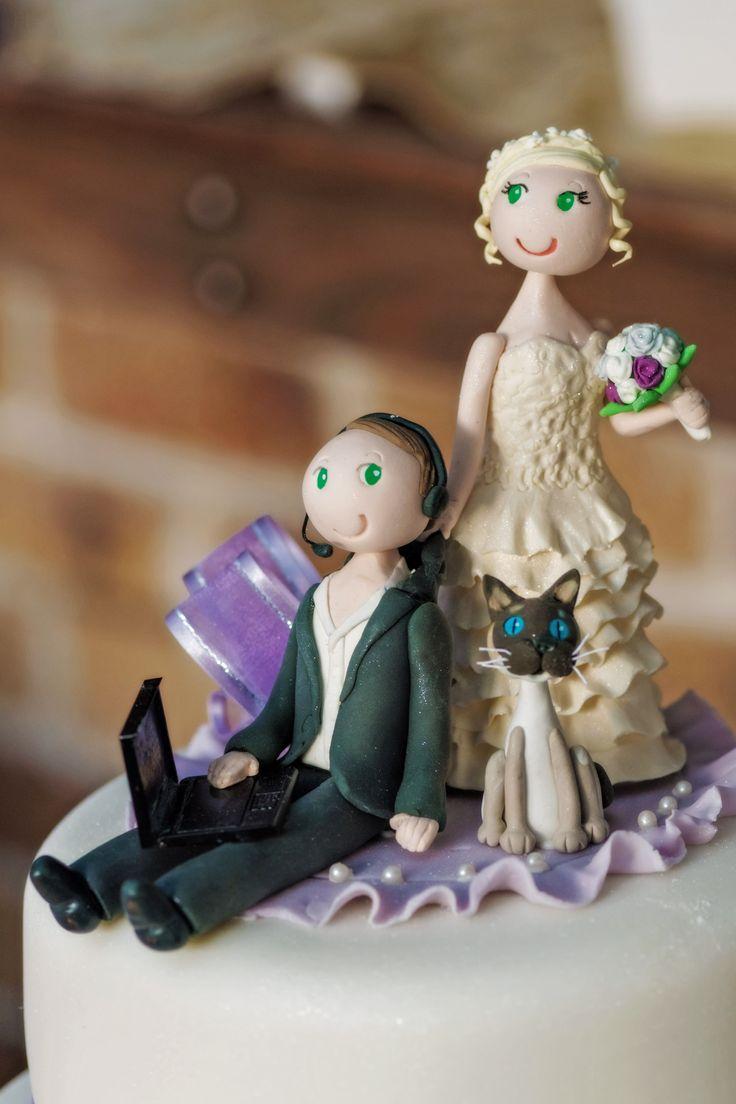Original caketopper. #customcaketopper #caketopper #weddingphotography
