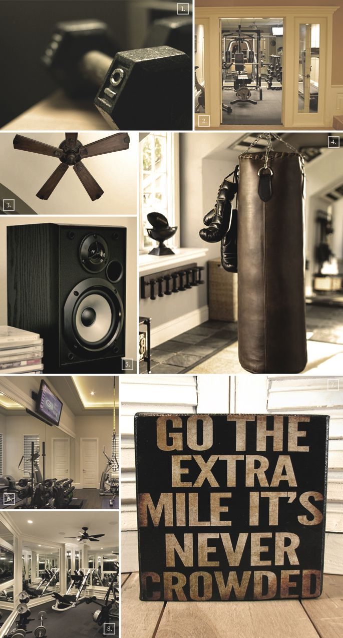 Ideas for setting up a gym in the basement
