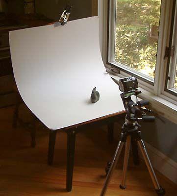 Basic  setup to take photos of objects