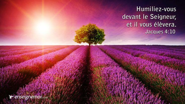Bible verset Jacques 4:10