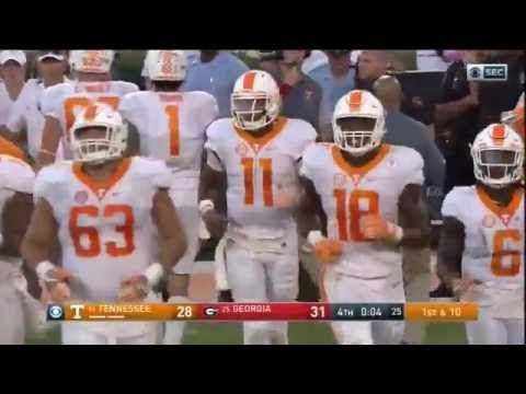 Peytonesque... Tennessee Hail Mary vs. Georgia (2016) - CBS, Tennessee and Georgia radio call - YouTube