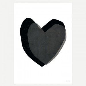 Black Heart Art Print - Black Heart Print