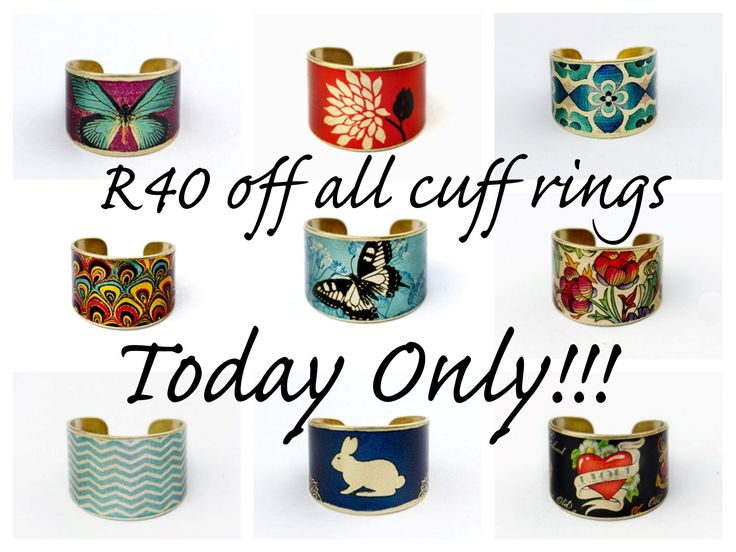 Our special on our cuff rings for today (14/07/2014) only. Enter the coupon code ring40 when you checkout.