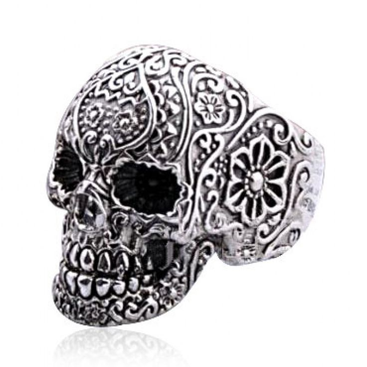 Punk Style Silver Skull Rings for Women