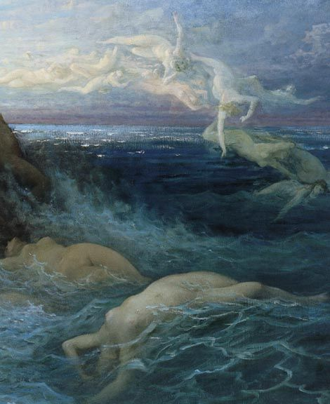 Naiads in air and ocean (detail of Les Océanides)    Gustave Doré