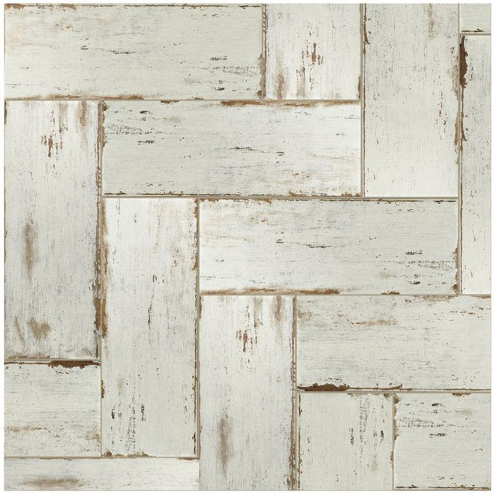 If you are looking for a distressed wood look, this tile is just right for you. With mixed white and gray tones, this product will match almost any room design. Use this tile indoors or outdoors because it is impervious and frost resistant.