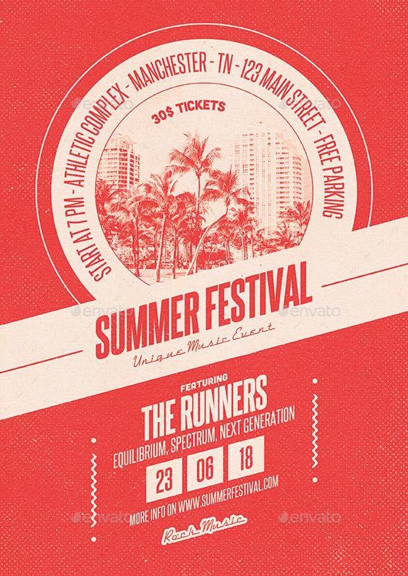 Summer Flyer/Poster #flyer #concert #FlyerDesign #music
