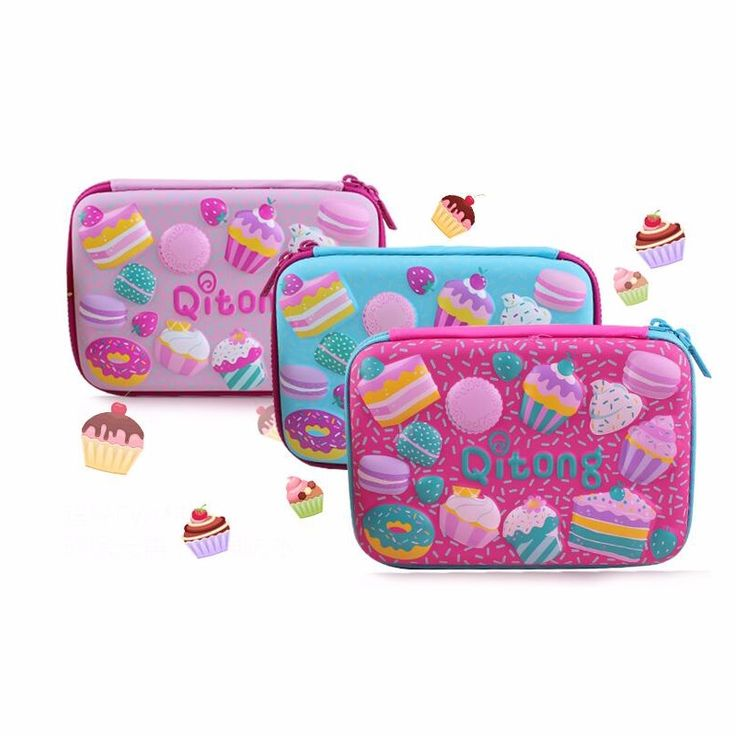 3Colors Large Capacity Pencil Case Cake Pen Pouch Bag For Girls Double zipper Cute School Pencil Box Stationery Supplies
