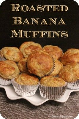 Roasted Banana Muffins are so full of flavor - you would have no idea ...