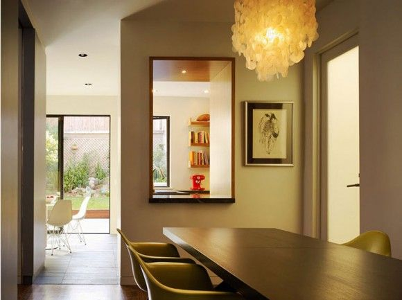 .: Residential Architecture, Dining Rooms, Home Tours, Large Window, Boxes Shelves, Clean Line, Shells Chandeliers, Eames, Architecture Projects
