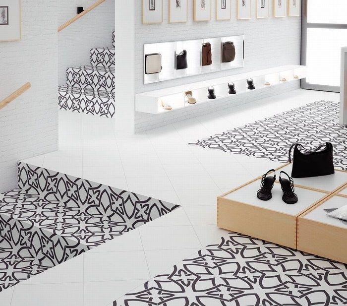 Carrelage Black and White by #aparici Vanguard plus natural  imitation carreau ciment carrelage 1er choix