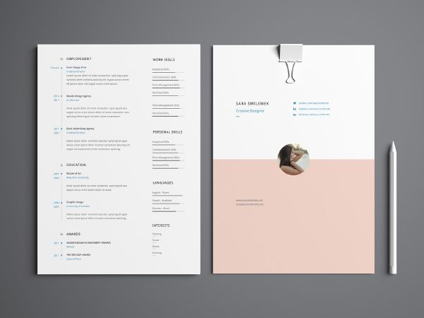 113 best modles de curriculum cv templates images on pinterest minimalist resume template - Minimalist Resume Template