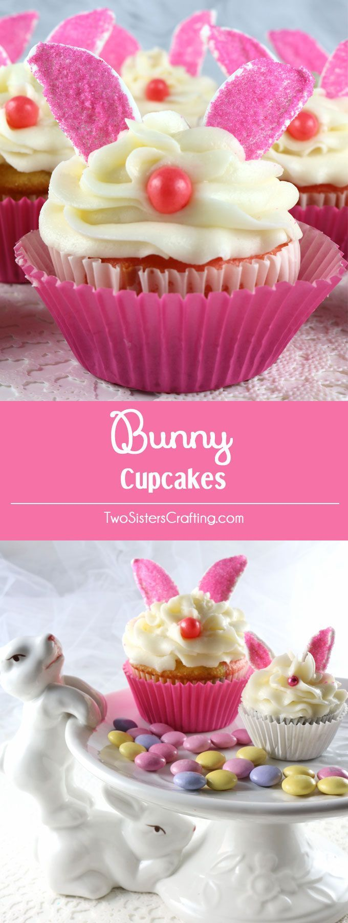 Bunny Cupcakes – adorable, yummy and very easy to make. We promise, anyone can…   – Foodlove