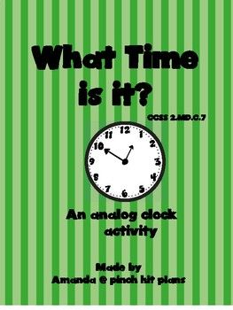 Exciting whole class activity to review telling time on an analog clock. In this activity students can: Read an analog clock at various, teacher selected times Record am or pm Add minute and hour hands to an analog clockThank you for your download from my store.