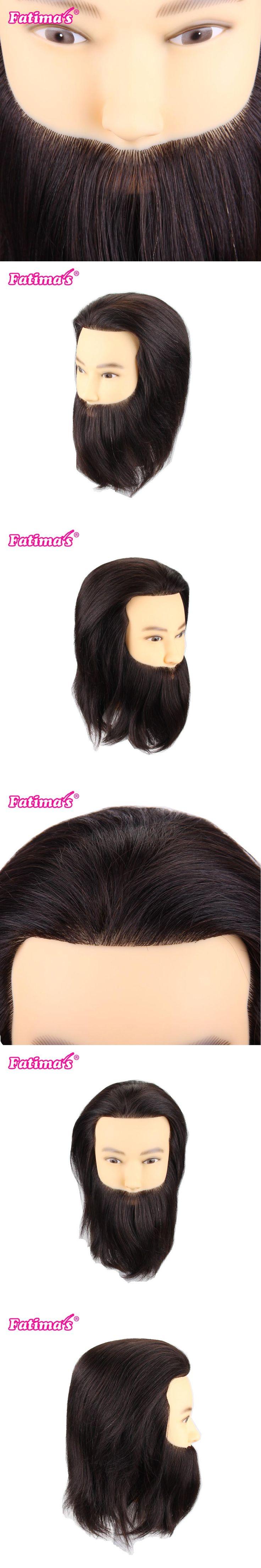 Fatimas 10 inch Male Mannequin Head 100% Hand Made Human Hair Hairdresser Training Head Manikin Cosmetology Doll Head