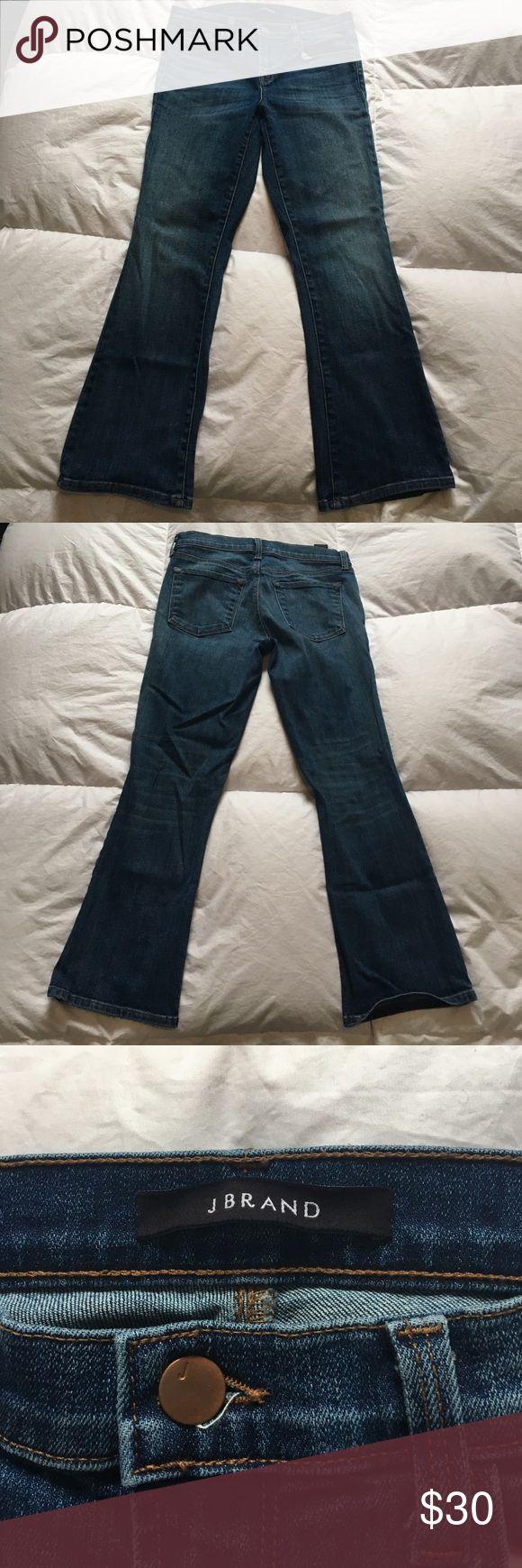 J Brand Boot Flares J Brand medium wash cropped boot cut jeans J Brand Jeans Boot Cut