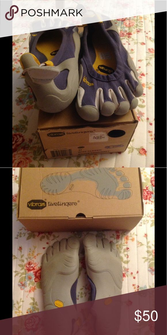 Vibram five fingers shoes Size 7 Vibram shoes. Mauve and gray. Vibram Shoes Athletic Shoes