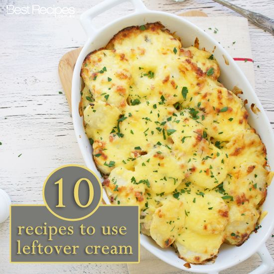 10 recipes to use leftover cream #dinners #comfortfood