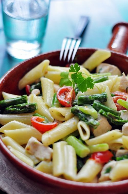 Try taking in pasta with vegetables. A great source of energy