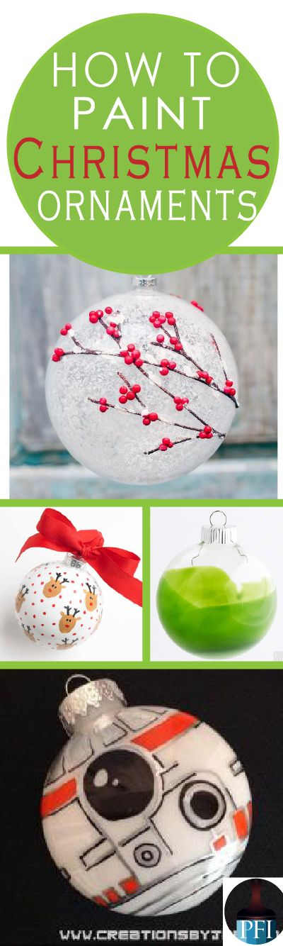Everyone loves to get a Christmas ornament that means a little bit more. Learn how to paint on ornaments and get inspired with beautiful ideas.