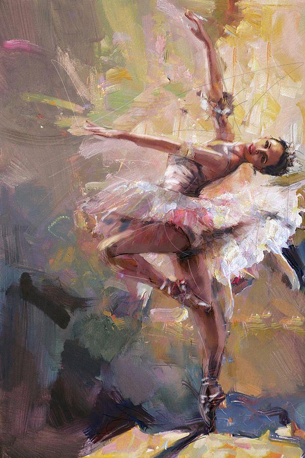 Ballerina 40 Painting by Mahnoor Shah