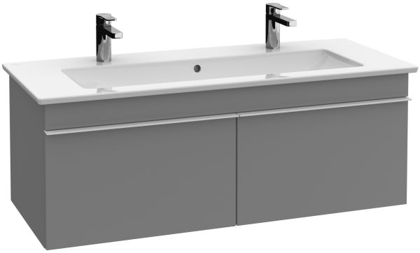Venticello Double Vanity Unit: Fastening set. Available from April 2016. Handles: handle Chrome. Equipped with: 2 pull-out compartments with non-slip mat. Front: White Wood, Elm Impresso, Oak Graphite (MDF, vinyled) Corpus: White Wood, Elm Impresso, Oak Graphite (partic...