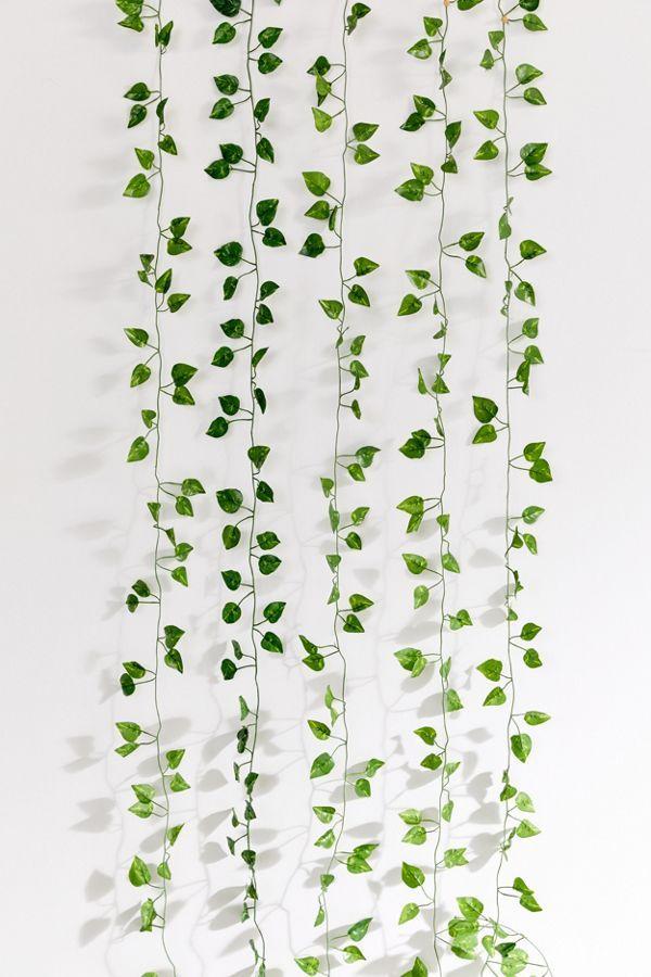 Faux Hanging Vine Garland In 2020 Hanging Vines Fake Plants