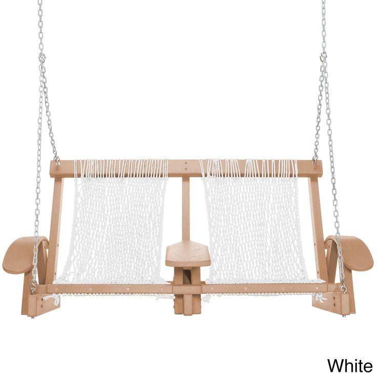 Pawleys Island Coastal Duracord Cedar Swing (White) (Plastic) , Patio Furniture