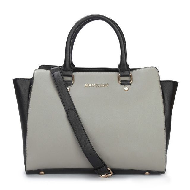 Michael Kors Selma Top-Zip Large Grey Satchels only $72.99